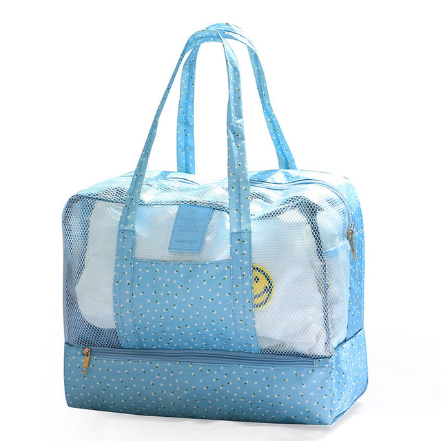 Swim Bag Waterproof Travel Mesh Beach Sports Duffel Handbag Outdoor Wet Dry For