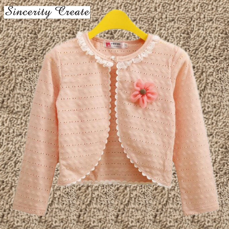d74d5a627 Hot 1 9Y Fashion Baby Girl Cardigan Sweater Thin Full Sleeve Pink ...