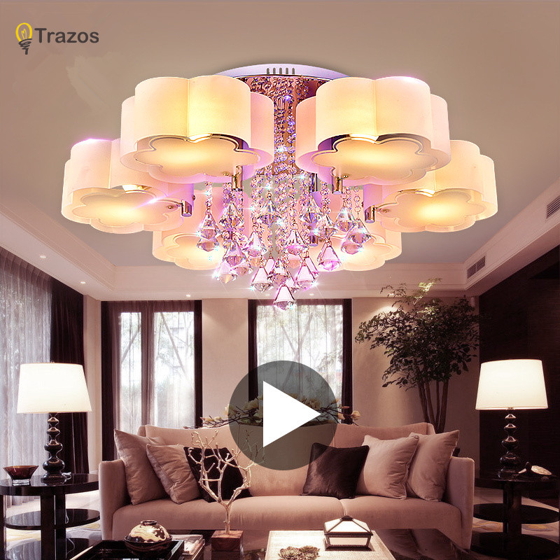 Crystal Led Ceiling Lights modern fashionable design dining room ...