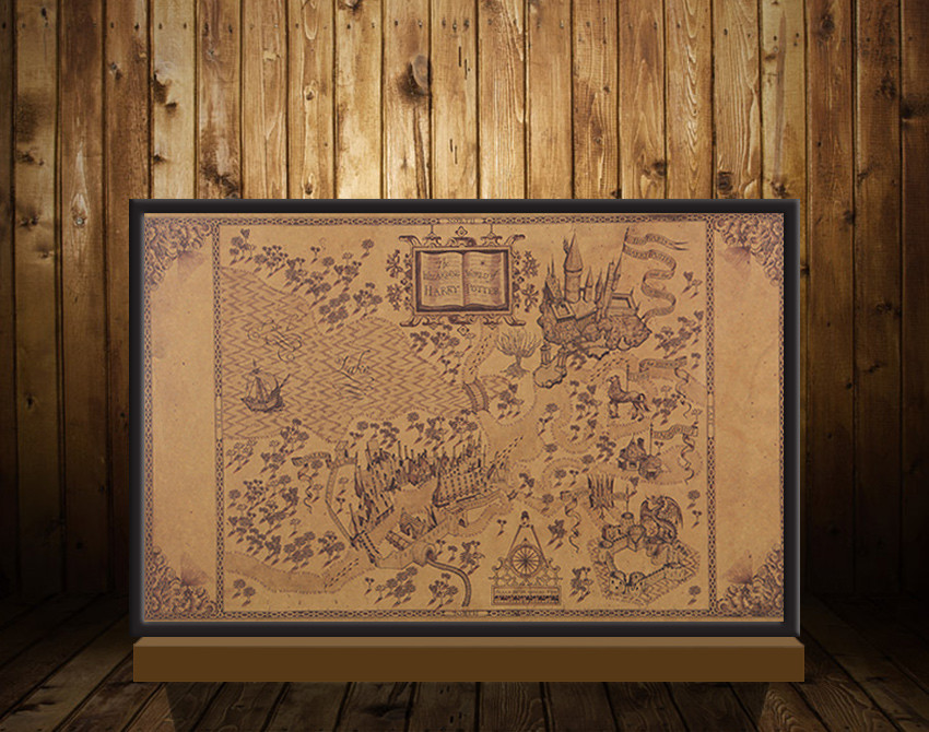Map of The Wizard World of Harry Potter Movie Poster Home Decoration Wall Stickers 33*51CM