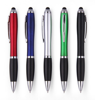Free 1 Color Logo 1500pcs/lot Metallic Color Touch Screen Stylus Ball Pen with Customized Logo Promotional Pens Advertising
