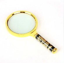 4X 80mm Dragon design Metal hand magnifiers,Loupe,magnifying glass for reading,jewelry identifying,office gifts