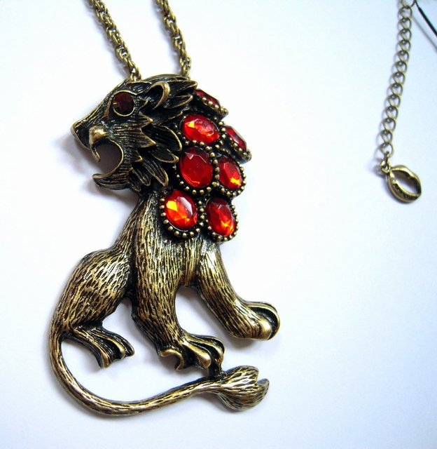 New arrival  Free shipping  lion pendant necklace , mini. order 15USD (mixed order)