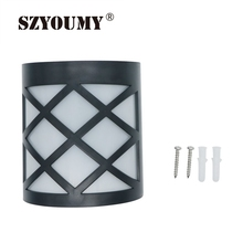 SZYOUMY Waterproof 6 LED Solar Powered Fence Gutter Light Outdoor Garden  Yard Patio Deck Roof Wall Pathway Lamp White