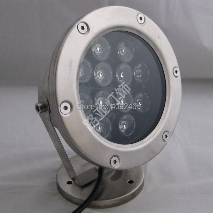 Just 4pcs/lot Bright 12x1w Led Underwater Flood Light Ip68 Waterproof Light Led Outdoor Pool Pond Lamp Light Dc12v 24v Or Ac85-265v Professional Design Led Lamps Led Underwater Lights