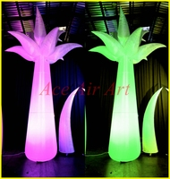 Beautiful Staniding decoration inflatable Palm tree with LED Lights for Night event, Party