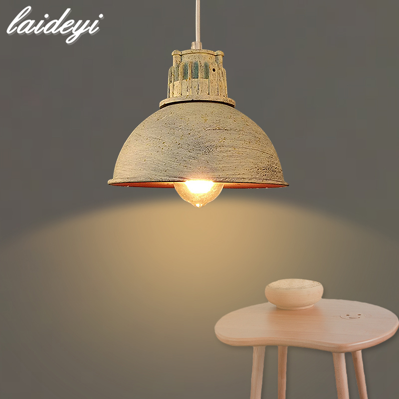 LAIDEYI Vintage Pendant Lights Edison Light Lampshade E27 Industrial Retro Lamp Loft Corridor Bedroom Cafe Ceiling Lamp vintage edison chandelier rusty lampshade american industrial retro iron pendant lights cafe bar clothing store ceiling lamp