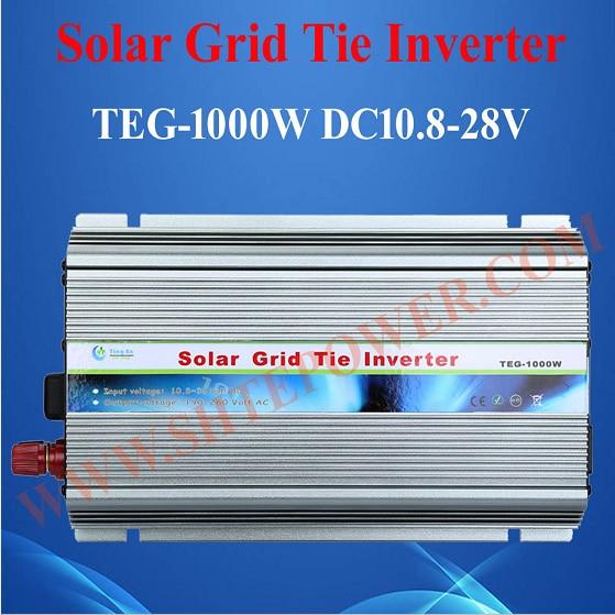 DC 10.8-30V to AC 90-130V 190-260V 1000W Micro Grid Tie Inverter With MPPT Function