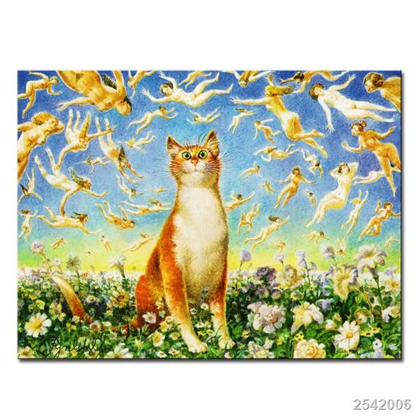Vladimir Rumyantsev tanto mundo del gato pintura al óleo imagen de ...