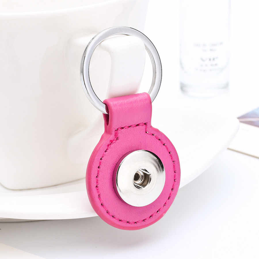 Sales DIY Snap Keychains Personalized Snaps Key Ring Hang Accessories Round One Snap Pendant Fit 18&20MM Snaps KC07