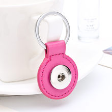 Sales DIY Snap Keychains Personalized Snaps Key Ring Hang Accessories Round One Snap Pendant Fit 18&20MM Snaps KC07(China)