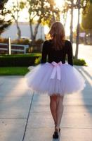 Cute Mini Light Pink Short Tutu Skirt Cheap Custom Make Bowknot Trimmed Fashion Sexy Micro Womens