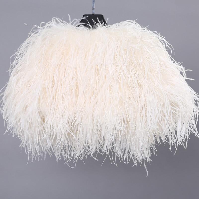 High Quality Luxury Ivory Ostrich Feather Wedding Fur Boleros 2016 Bridal Jackets for evening dresses Wedding Accessories (1)