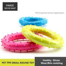 TPR eco-friendly pet toy Round thorn shape rubber toy bite molar relax pet toy molar toy bite resistance 1pc/lot