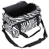 Pro Hairdressing Tools Bag Canvas Zebra Handbag Stored Scissors Clips Salon Barber Hair Styling Tools Portable