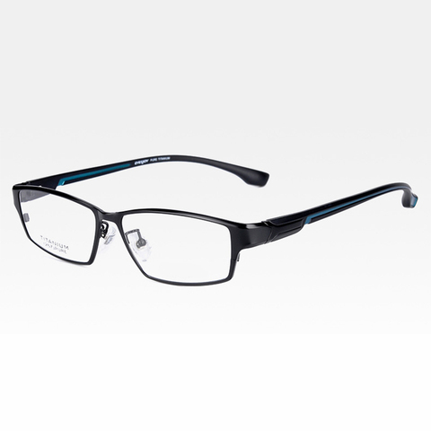 Reven Jate EJ267 Fashion Men Eyeglasses Frame Ultra Light-weighted Flexible IP Electronic Plating Metal Material Rim Glasses Lahore