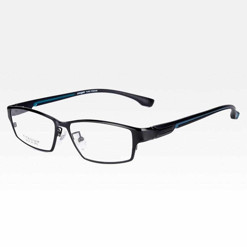 Reven Jate EJ267 moda montura de gafas para hombre Ultra liviano Flexible IP chapado electrónico Metal llanta de material gafas - 2