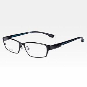 Image 2 - Reven jate ej267 moda masculino óculos quadro ultra leve ponderada flexível ip eletrônico chapeamento de metal material aro óculos