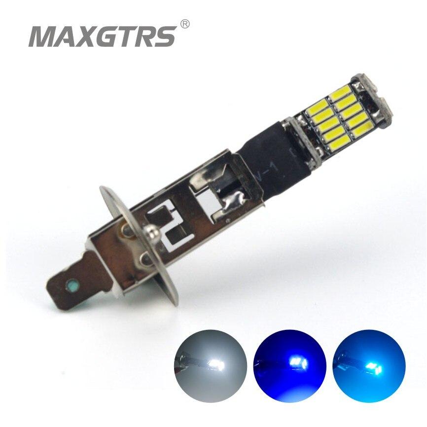 2x H1 4014 26SMD <font><b>led</b></font> замена лампы автомобилей туман фонари Canbus Нет Ошибка днем Бег свет авто лампы накаливания белый /синий/голубой лед