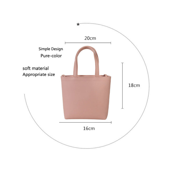 Women Bags Tote Ladies Casual Shoulder Bag Women Handbag Fashion Shoulder Bags 2019 Shopping Bags Solid Tote Clutch Bag II