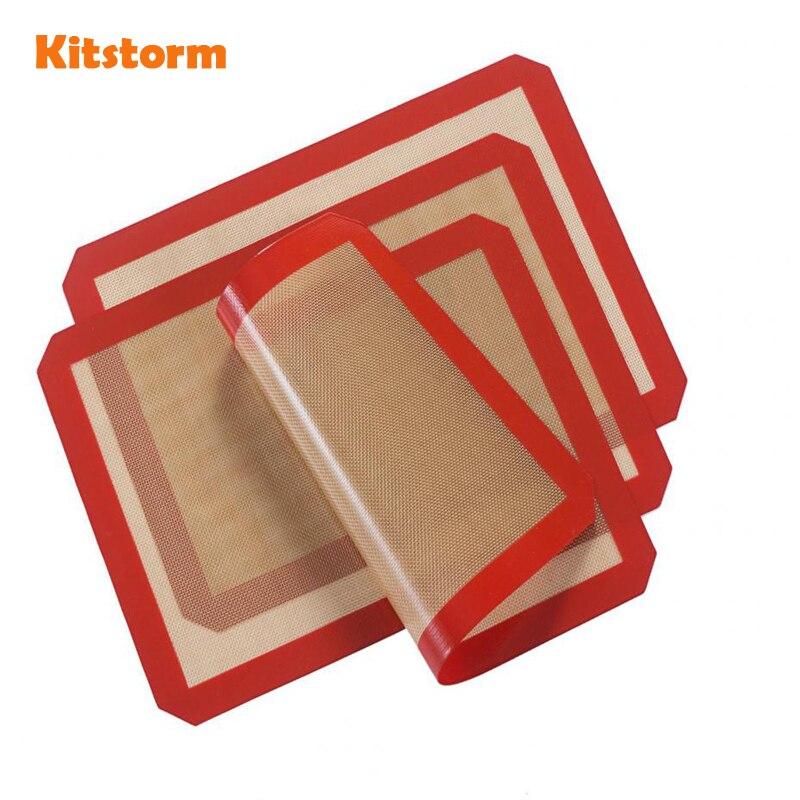 (3 teile/los) 40x30 cm Antihaft-silikonbackmatte Hitzebeständigen Teig Roll Blatt Pad Für Kuchen Cookie Küche werkzeuge