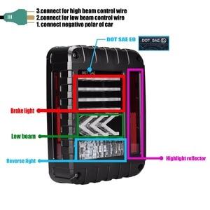 Image 4 - LED Tail Lights Reverse Lamps Amber Arrow Turn Signal EU / US For Jeep Wrangler JK 2007 2017 Daytime Running Lights