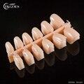 TKGOES 120pcs Nail Tips Short Design Fake Nails Faux Ongles Full Cover False Acrylic Nails Art Design Tips #14 Flesh Color