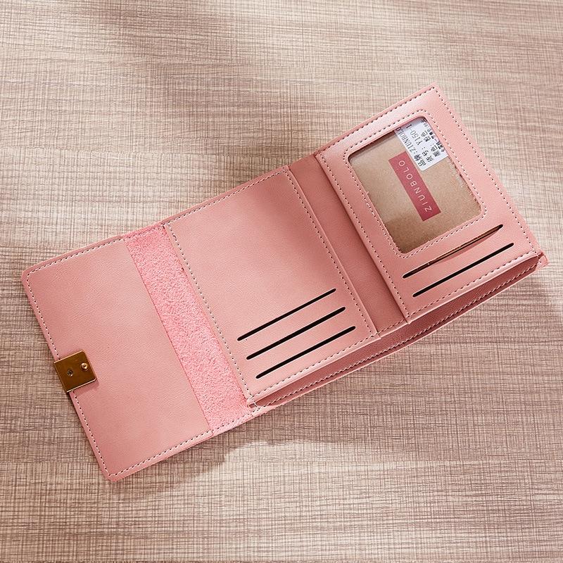 New Retro Multi-card Bit Coin Purse Pu Leather Women Wallet Mini Clutch Card Holder Womens Small Wallets Lady Purses Bolsas QL