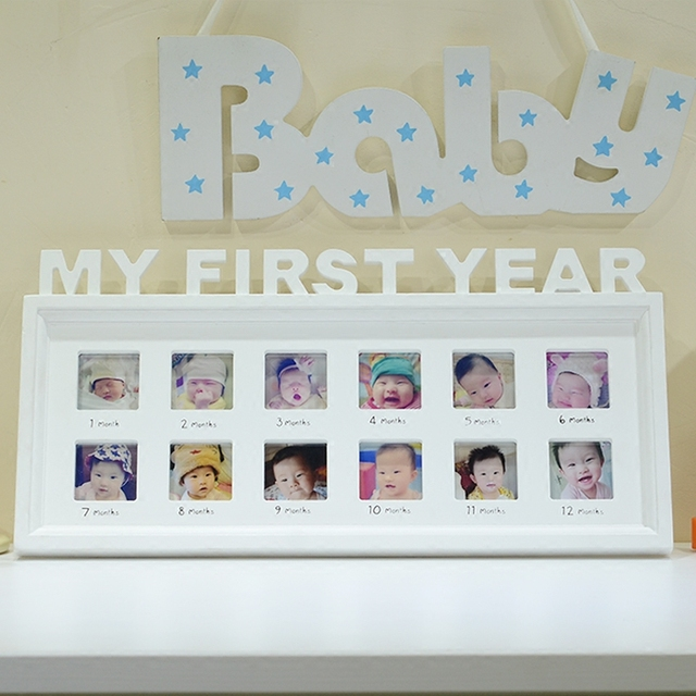 4f2c6147d64f Modern Baby's Monthly Photo Frame Baby's First Year Creative Memory Frame  Birthday Gift For Baby Growing Up
