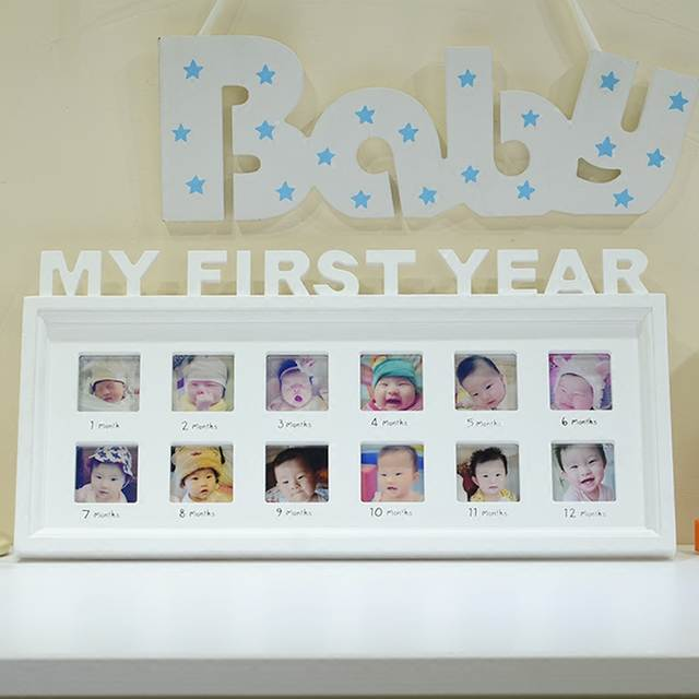 Online Shop Free Shipping Modern Babys Monthly Photo Frame Babys