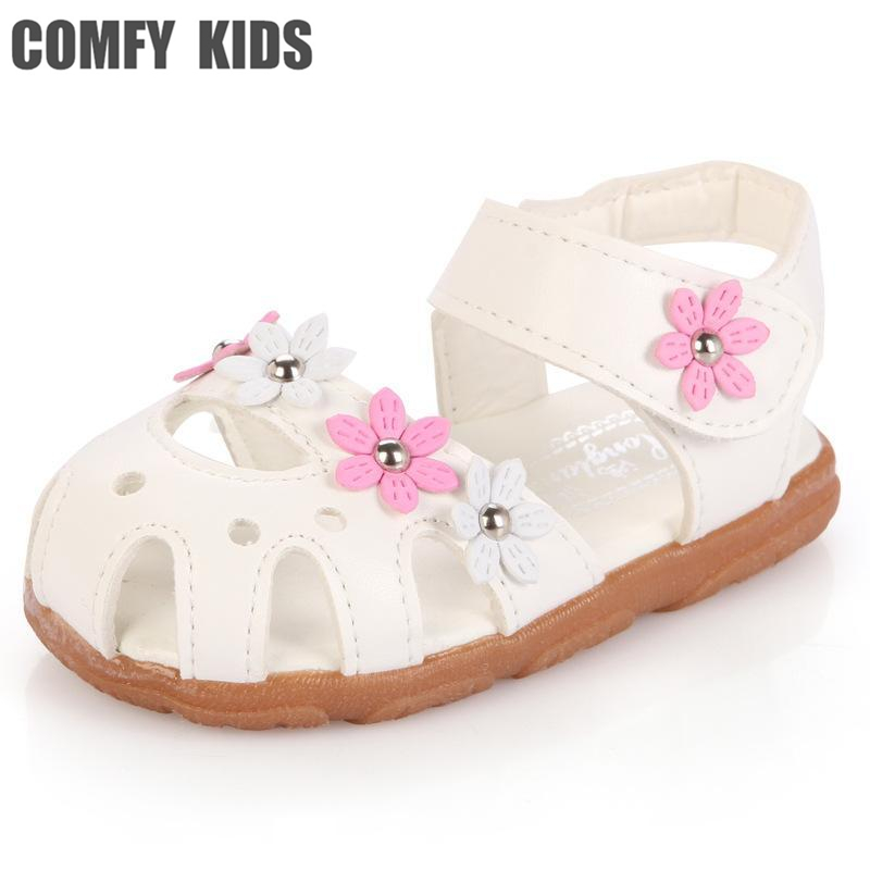 Comfy kids child sneakaers shoes baby girls sandals girls shoes baby girl rivets flower sandals soft shoes girls hot selling