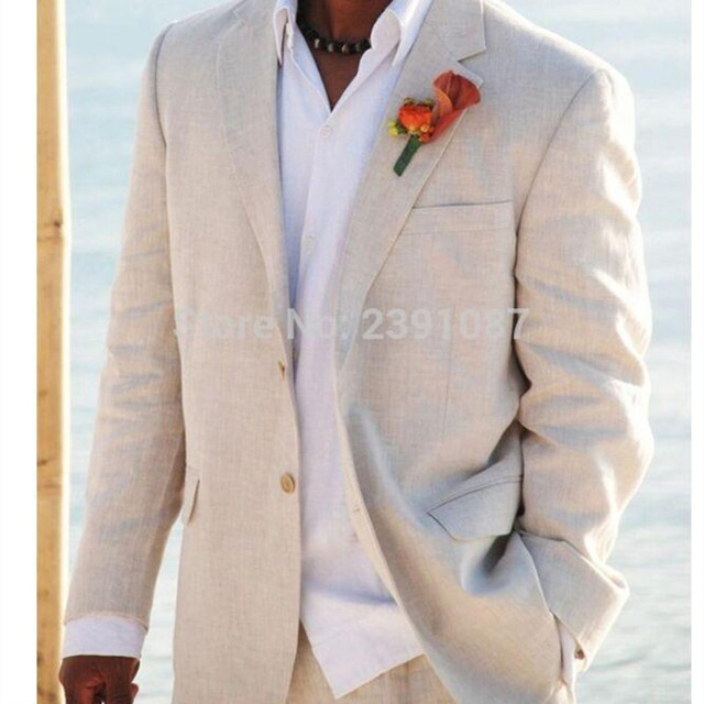 Handsome Multi Color Linen Suits Men Wedding Tuxedos for Men ...