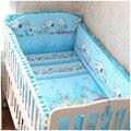 Promoción! 6 unids pesebres del lecho del bebé para bebés paragolpes cuna cama kit alrededor piezas conjunto ( bumpers + hojas + almohada cubre )