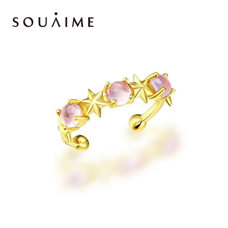 2018 New Hot Sale Anel Feminino Natural Crystal Ring In Sterling With Gold-plated Open Jewelry, Womens Boutique Jewelry 2018 New Hot Sale Anel Feminino Natural Crystal Ring In Sterling With Gold-plated Open Jewelry, Womens Boutique Jewelry