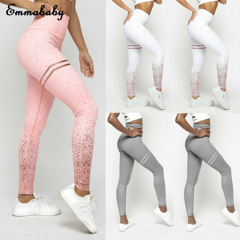 Leggings Clothing Wear High-Waisted Women Stylish New Fitness Print Yoga-Pants Gym Running