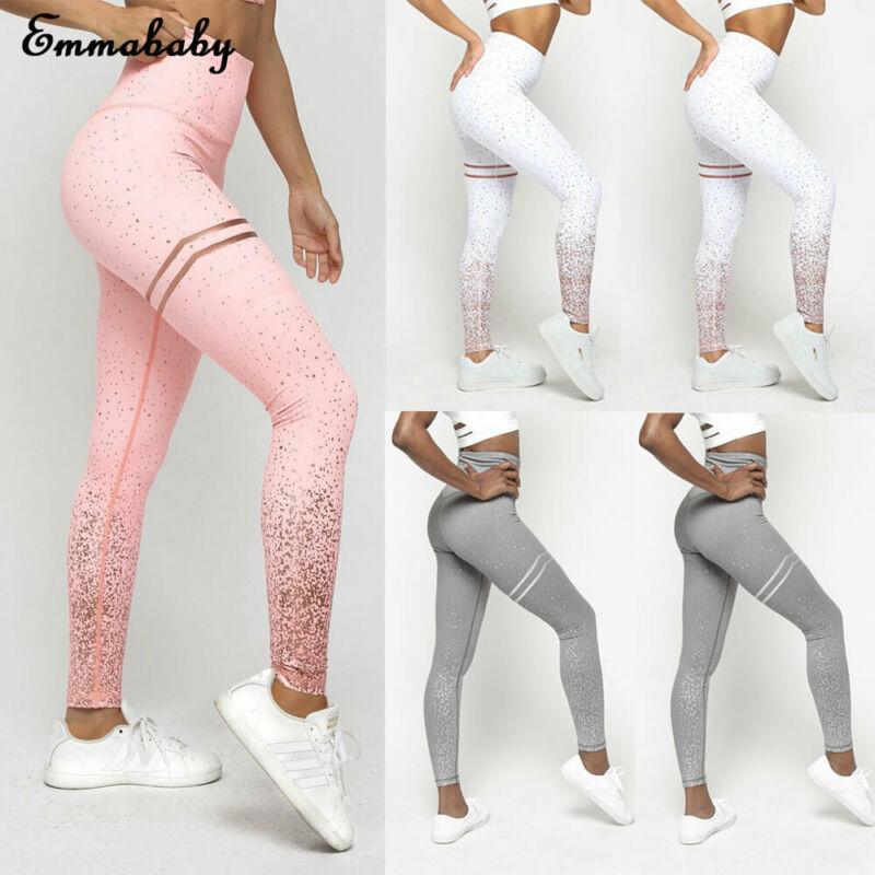 Leggings Clothing Wear High-Waisted Women Stylish New Fitness Print Yoga-Pants Gym Running