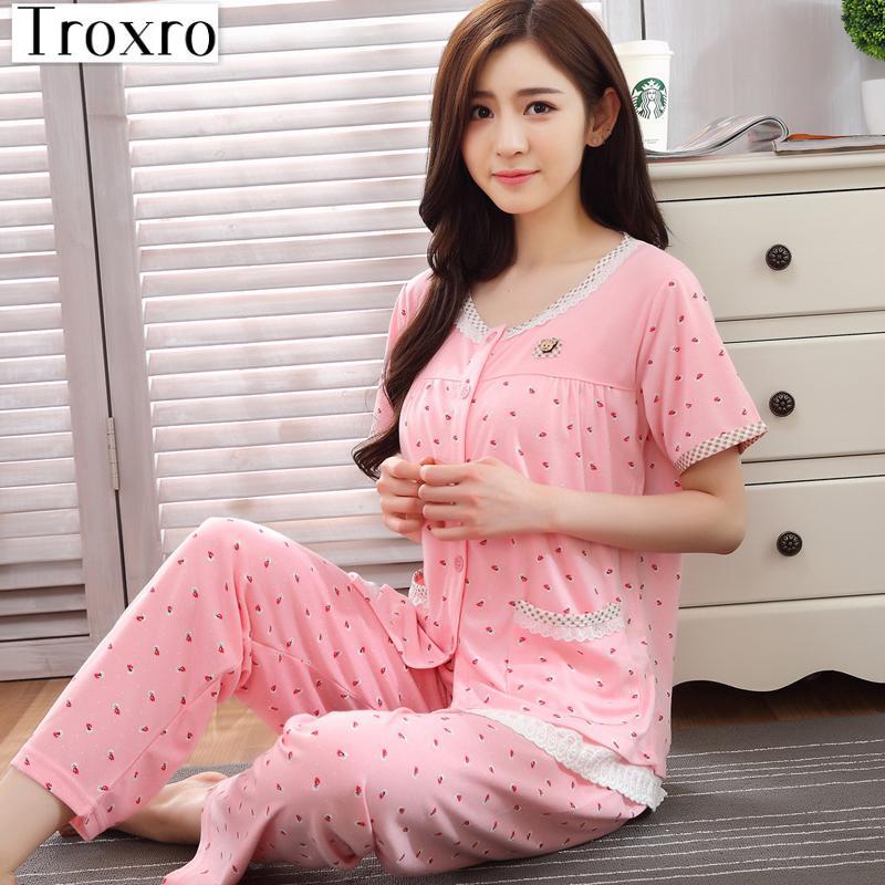 Pajamas Set Wokids Pijama Solid Sleepwear Fashion Pyjama Korean Night Suits Ladies  Home Wear Sexy Pyjamas Plaid 2007B-in Pajama Sets from Underwear ... 6c75f355a