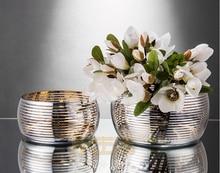German 22K Phnom Penh Fruit Bowl Small Fatty Salad Lead-free Glass Flower Pot Large Pan Bucket