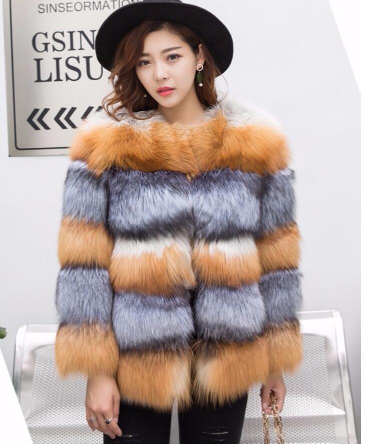 Винтаж утепленные натуральным лисьим мехом серебро пальто удивительные Horiental вставки натуральный красный/silver fox пальто с мехом короткие пи