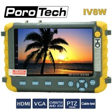 YENI 4 IN 1 5MP AHD TVI 4MP CVI Analog Güvenlik kamera test cihazı IV8W 5 Inç CCTV Tester Monitör VGA HDMI giriş UTP Kablo Testi