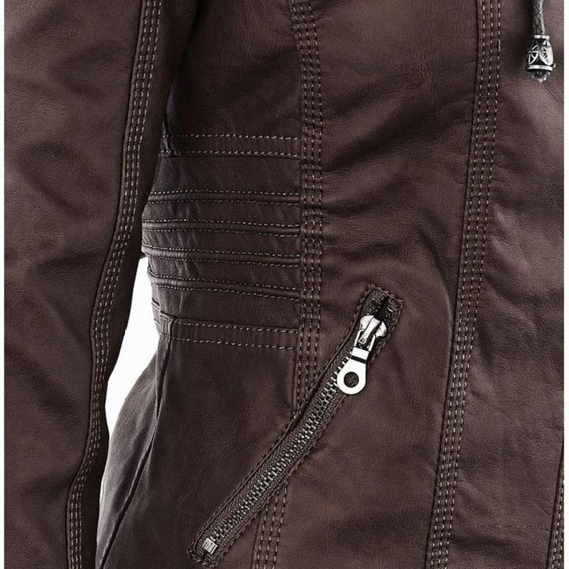 HTB1K5bhaebviK0jSZFNq6yApXXaW Faux Leather Jacket Women 2021 Basic Jacket Coat Female Winter Motorcycle Jacket Faux Leather Suede PU Zipper Hoodies Outerwear