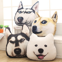 Husky 3d Pillow Unhide Cushion Dog Doll Large Unpick And Wash The Birthday Gift Female