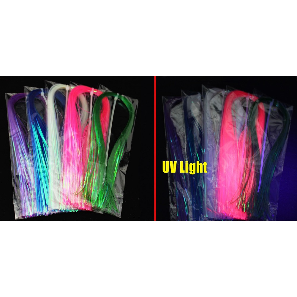 Tigofly 5 kleuren 1mm Flashabou Platte holografische klatergoud Flash - Visvangst - Foto 6