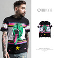 FORGIVENESS tide brand men's new high-street dinosaur printed silk covered cotton comfortable fabric men T shirt