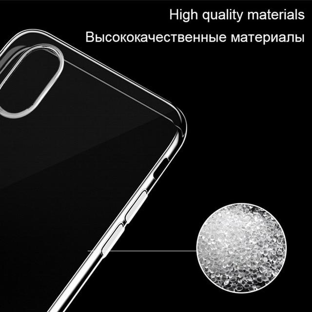 Przezroczysty silikonowy futerał na iPhone XS Max XR X 11 pro Coque 7 8 Plus 6 S 6 S 4 4S 5 5S 5SE 6Plus 7Plus 8 Plus tylna pokrywa TPU Etui