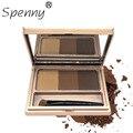 Ceja ceja enhancer set 3 colores mezclados polvo pomada componen kit de cepillo de tinte de cejas