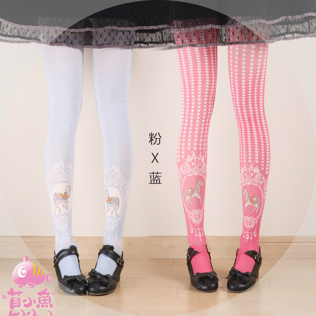 ac3ac2b6f Princess sweet lolita pantyhose Japanese Princess South Korea Trojan love  Ling lattice aesthetic Tights bk06