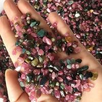 Wholesale 1000g Natural Multicolor Tourmaline Gravel Original Stone Mineral Purify Degaussing Quartz Crystals Natural Stones