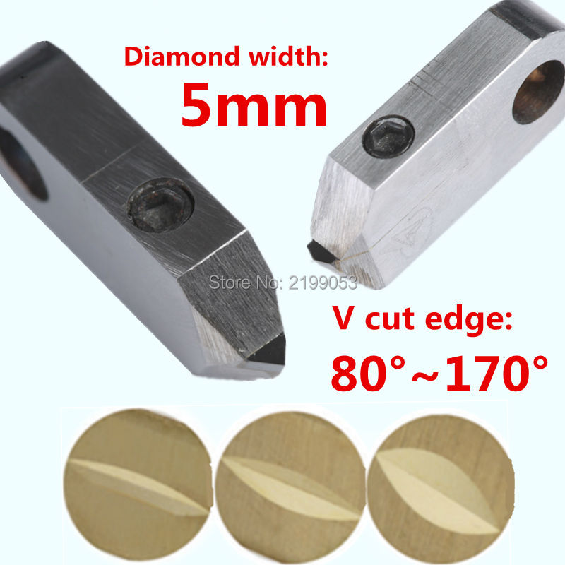 Posalux machine tools and accessories 5mm PCD posalux V diamond tools jewellery cutting tool for metal gold silver ring faceting  цены