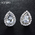 OCESRIO Cute Silver Stud Earrings Water Drop Small Crystal Stud Earrings for Girls Women Fashion Earrings Bijoux giftsers-h92